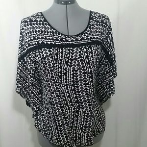 H&M Black and White Blouse Size L